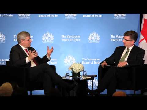 Prime Minister Stephen Harper at The Vancouver Board of Trade