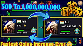 500 To 1 Billion Coins In 8 Ball Pool By Miniclip + Surprise For Subscribers 💖