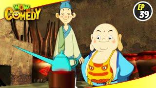 Little Buddha- S1EP39   Hindi Cartoon Show   Funny Videos For Kids   Wow Kidz Comedy