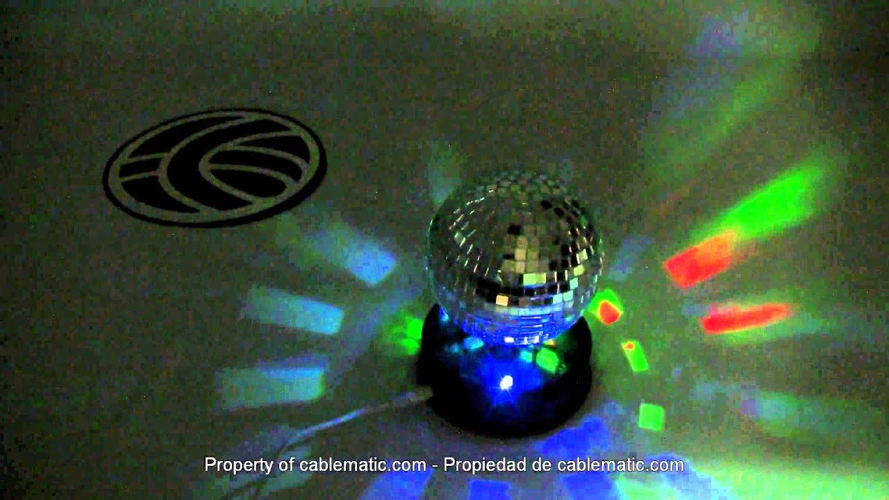 Bola de discoteca giratoria con led por usb distribuido - Bola de discoteca de colores ...