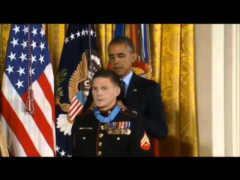 "Lance Cpl. William ""Kyle"" Carpenter receives Medal of Honor"
