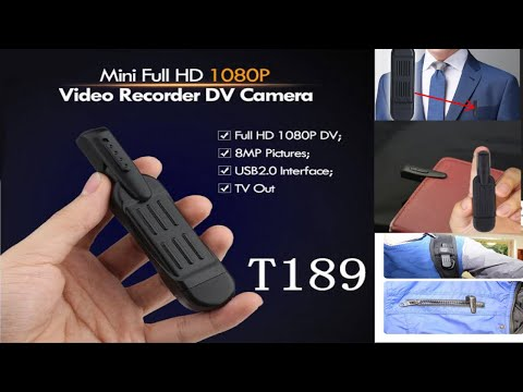 Pen Spy Camera T189 full HD 1080P || setup review,YouTubers favorite Camera