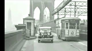 Brooklyn Bridge Trolley 1930's