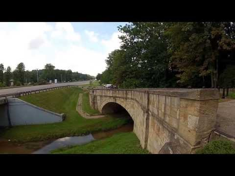 Historic S Bridges of Guernsey County Ohio Motorcycle Walking Tour HD