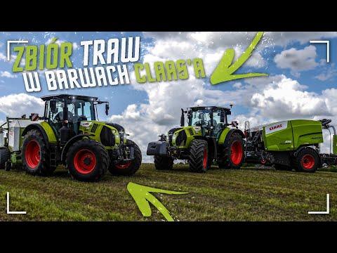 "Zbiór Traw W Barwach ""CLAAS'A""! ✔ [AGRO-ZORK] ☆ Nowy Nabytek! ☆ Claas Rollant 455 Uniwrap! ✔"