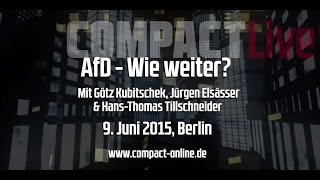 COMPACT Live am 9. Juni: Wie weiter mit der AfD?