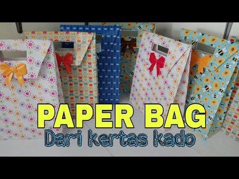 Paper Bag Dari Kertas Kado Versi Cepat.