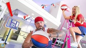 BEST TRICKSHOT WINS!! Fun Basketball Challenge!