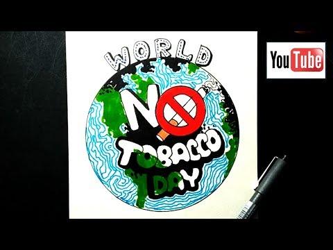World no tobacco day drawing