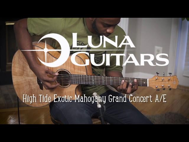 Luna Guitar High Tide Exotic Mahogany with Fishman