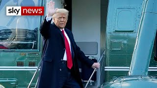 Donald Trump leaves White House for final time as President