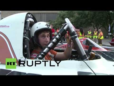 USA: Sun powered cars race to the chequered flag
