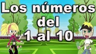La canción de los números - Canciones Infantiles - del 1 al 10 - preescolar #