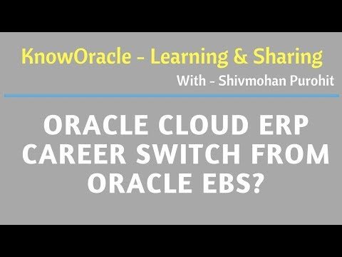 Oracle Cloud ERP career switch from Oracle EBS?