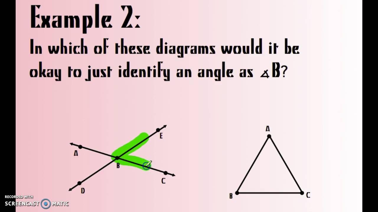 worksheet Naming Angles lesson naming angles youtube angles