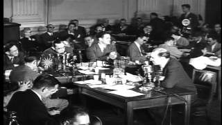 Journalist Howard Rushmore testifies before the House Committee on Un-American Ac...HD Stock Footage