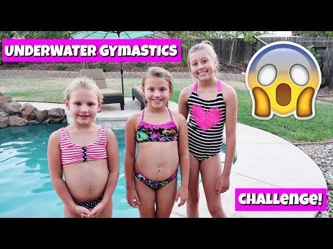 UNDERWATER GYMNASTICS CHALLENGE! THE WEISS GIRLS