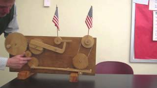 Flag waving machine////Homemade Science with Bruce Yeany