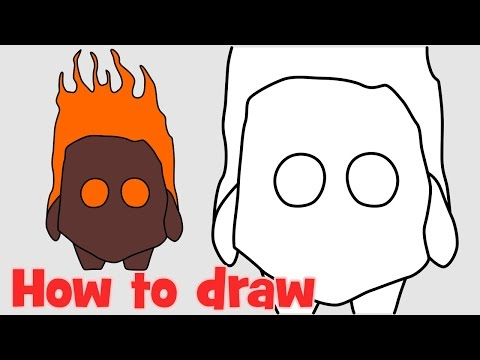 How to draw Fire Spirits Clash Royale characters step by step