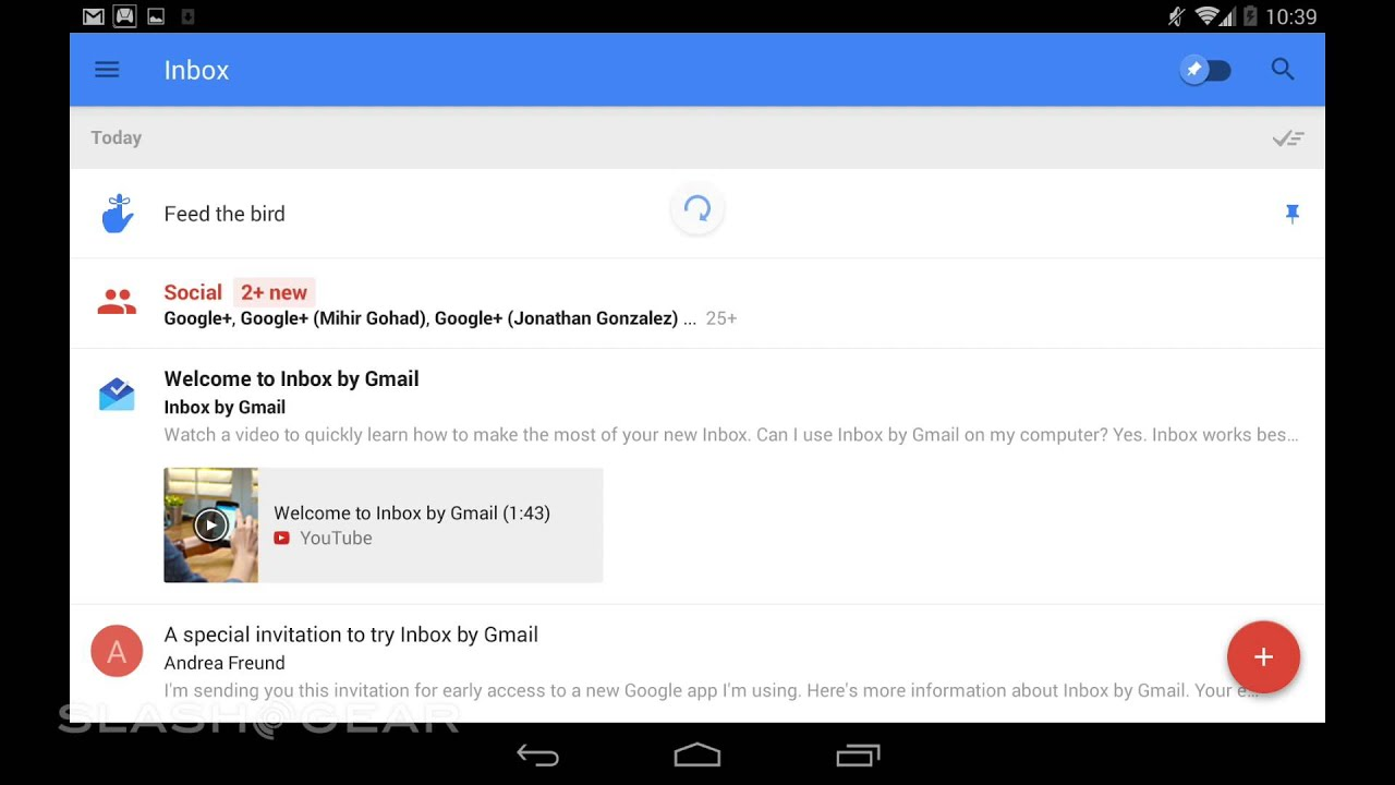 Access My Gmail Inbox inbox for gmail hands-on: email's next generation - slashgear
