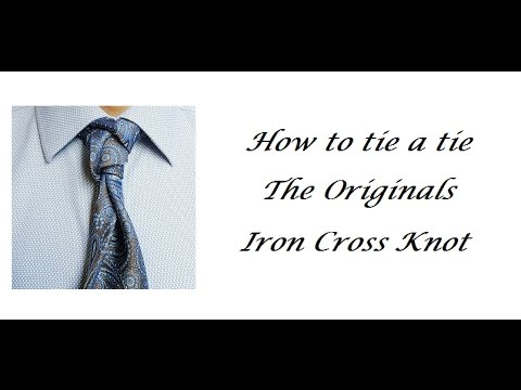 iron cross knot how to tie a tie tutorial youtube. Black Bedroom Furniture Sets. Home Design Ideas