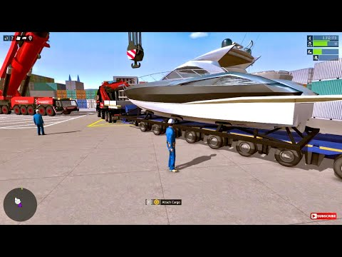 Construction Simulator 2015 - Heavy Yacht Boat Transport With Large Trailer |
