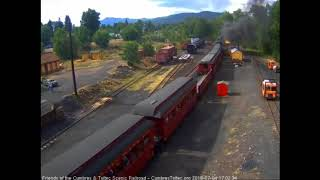 7/4/2018  Seven car 4th of July special leaves Chama, NM for Cumbres Pass