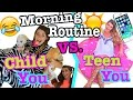 Child You VS. Teen You Morning Routine