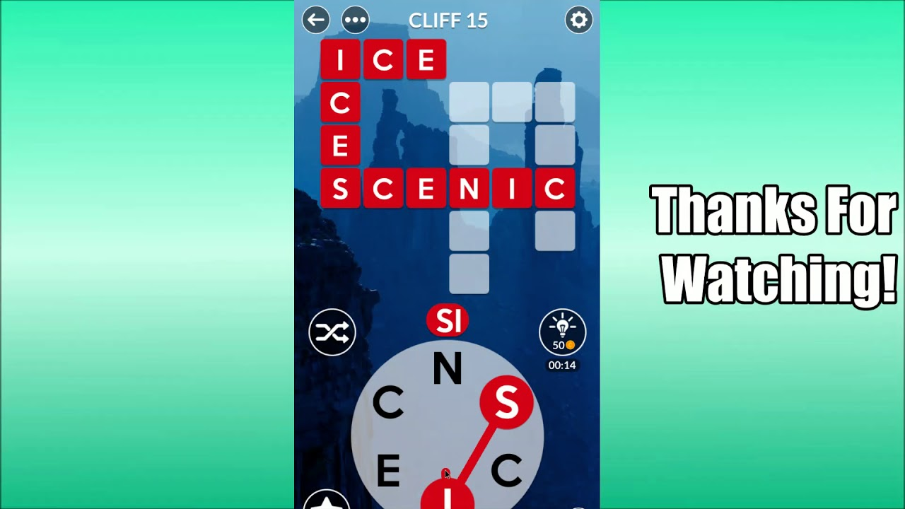 Wordscapes Cliff Level 15 Answers Youtube