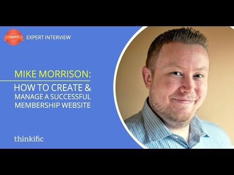 How To Create a Membership Site for Online Courses   Interview with Mike Morrison
