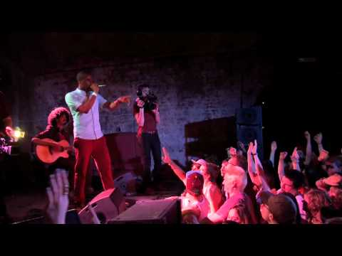 Shakka performing on stage during George Watsky Live stream at The Old Vic Tunnels
