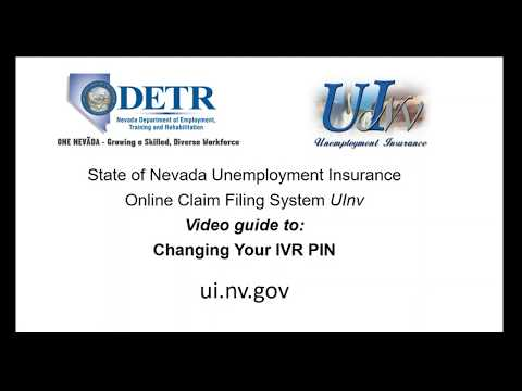 Pin Reset Tutorial For Nevada Unemployment Insurance Youtube
