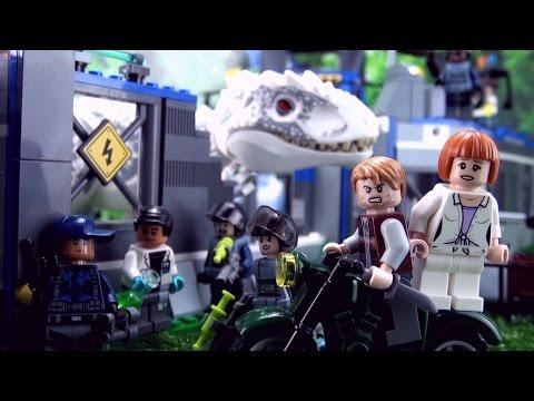 Indominus Rex Breakout Song - Jurassic World Lego - ♫ ♪ ♫ Dinosaur Songs for kids