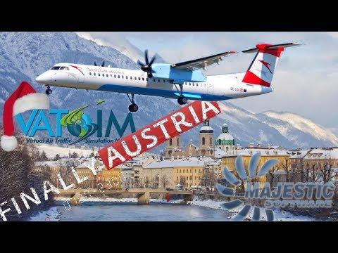 Majestic DH8D Q400 on Vatsim - Vienna to Innsbruck