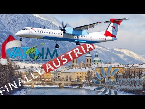 Majestic DH8D Q400 On Vatsim - Vienna To Innsbruck