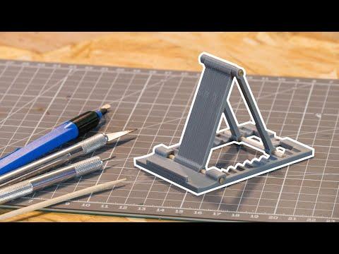 SUPPORT de TELEPHONE réglable imprimé en 3D + Concours – DIY – Lucas'Build