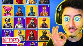 ALL MY FORTNITE SKINS COLLECTION!