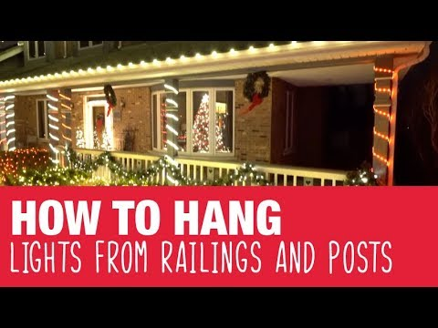 How To Hang Holiday Lights On Railings Amp Posts Ace