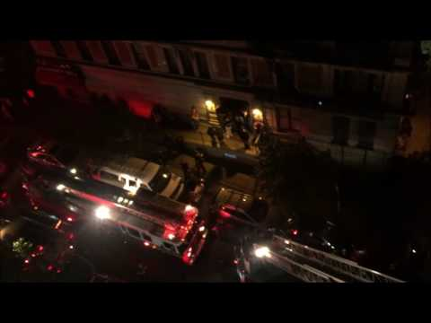 FDNY BATTLING 2ND ALARM FIRE ON 141ST STREET IN HAMILTON HEIGHTS AREA OF MANHATTAN IN NEW YORK CITY.