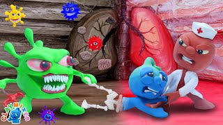 Are Your Lungs Healthy - Stop Motion Animation Cartoons