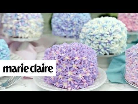 You Need To See The Trick To Creating This Stunning Hydrangea Cake! | Marie Claire