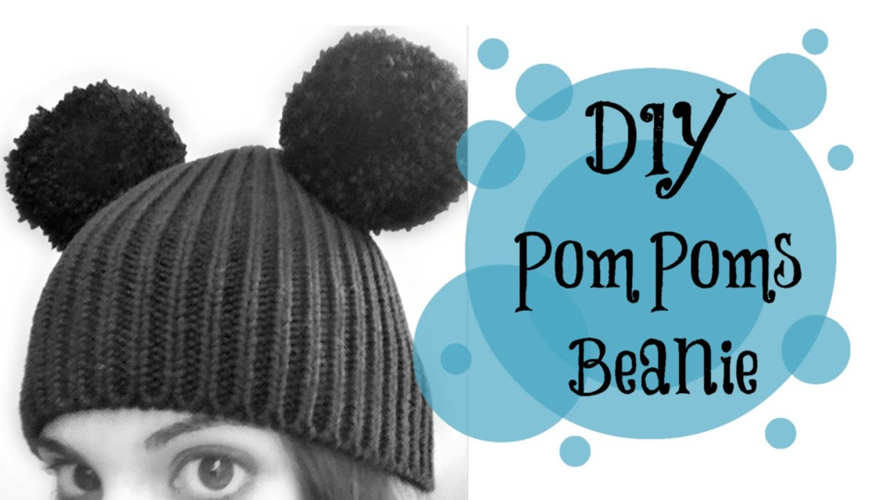 Diy Pompoms Mickey Mouse Hat Quick And Easy