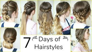 7 Days of Hairstyles! | A Week of Hairstyles | Braidsandstyles12