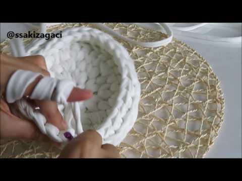 circle basket knit with yarn (model 2 )