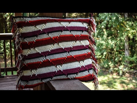 Part 4 Pillow Cover & Blanket,   Navajo Indian Diamond Pattern. 😉 Free Video Be Sure To Subscribe!