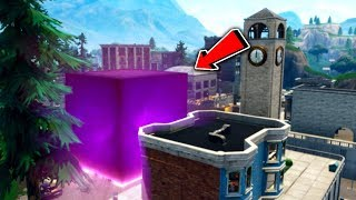 The Cube is in Tilted Towers...😅 If you beat me in a Playground 1v1 you win VBUCKS + A SHOUTOUT!