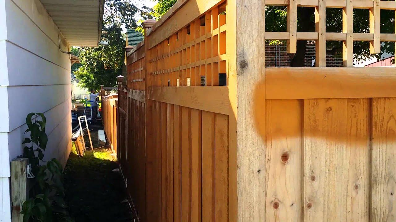 Staining A Cedar Fence