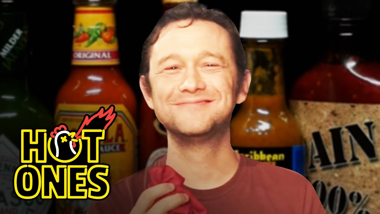 Download Joseph Gordon-Levitt Gets Cocky While Eating Spicy Wings   Hot Ones