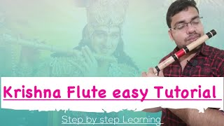 Krishna Flute Tutorial | कृष्णा धुन बजाना सीखें | step by step | Shiv'z Muzic® | MahaBharat