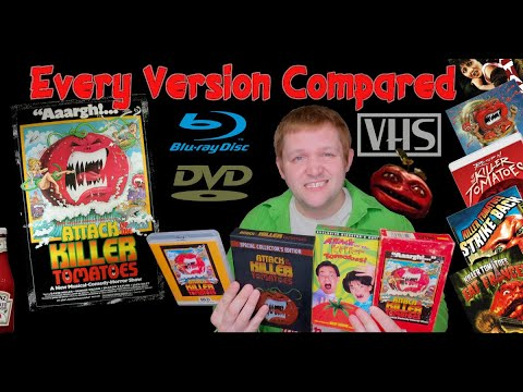 Download Every version of Attack of the Killer Tomatoes compared VHS to Blu-Ray